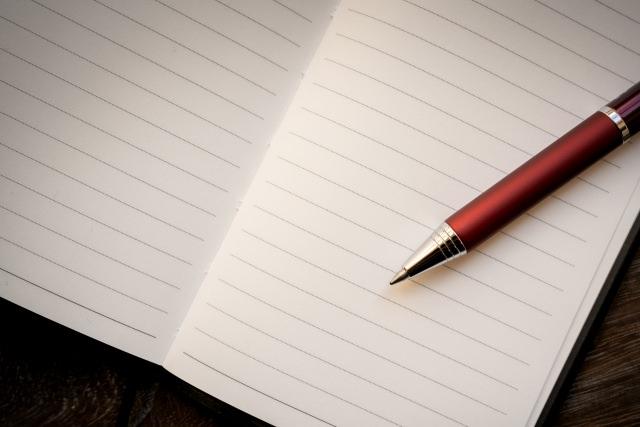 ノートに考えを書き出す